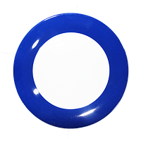 Тарелка керамическая с синей окантовкой