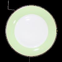 Тарелка керамическая с салатовой окантовкой