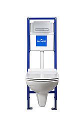 Инсталяция+подвесной унитаз CARINA NEW CLEAN ON (подв.с slim DP lift+инст.LINK PRO с кн. BLICK хром.