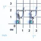 Серьги из серебра с фианитом и изумрудом   Teosa E-DRGR00743-EM, фото 2