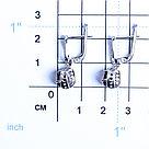 Серьги из серебра с гранатом   Teosa E-DRGR00748-GR, фото 2