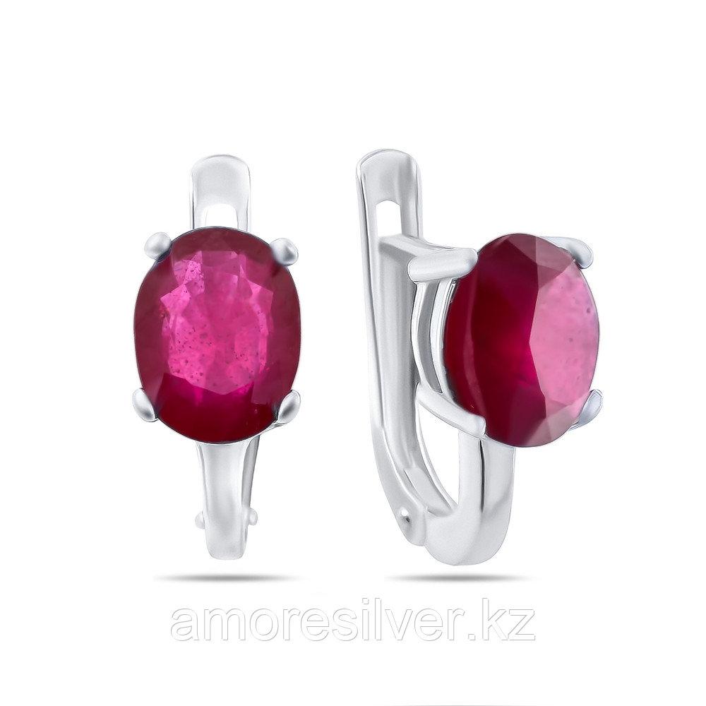 Серебряные серьги с рубином   Teosa E-DRGR00554-RB