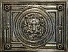 Декор золотой керамический лев