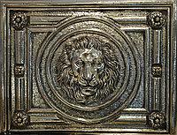 Декор золотой керамический лев, фото 1