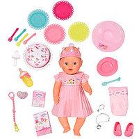 Игрушка BABY born Кукла Интерактивная Нарядная с тортом, 43 см, кор., фото 1