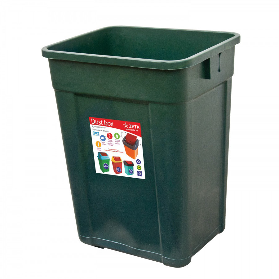 Ведро для мусора, цветное (32 л.) из пластика