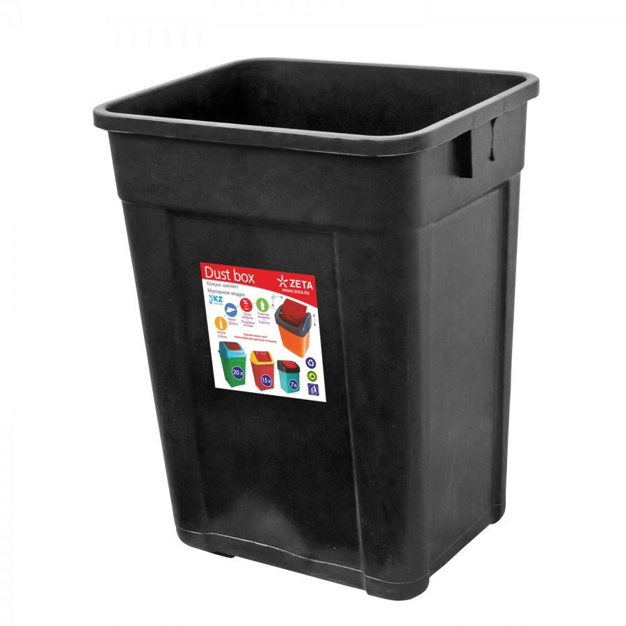 Ведро для мусора, чёрное (32 л.)