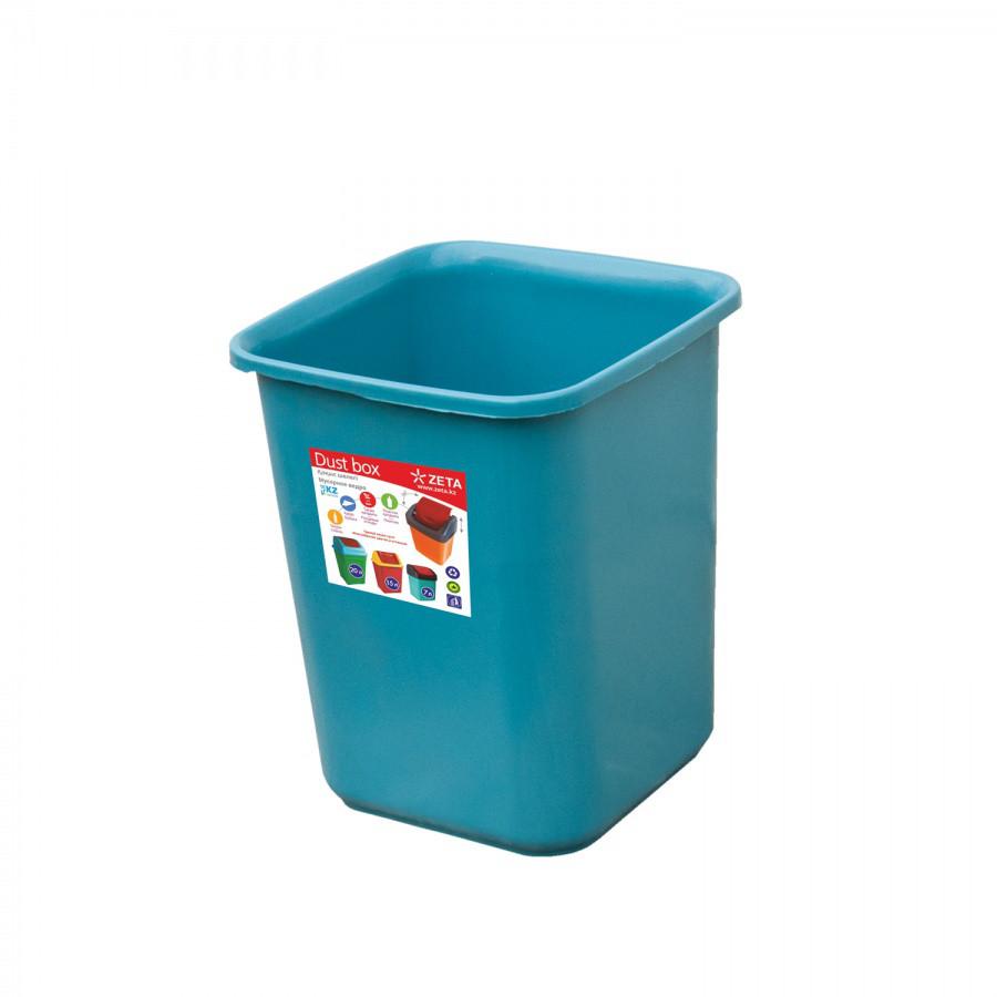 Ведро для мусора цветное 7 л из пластика, Зета,  ZETA,