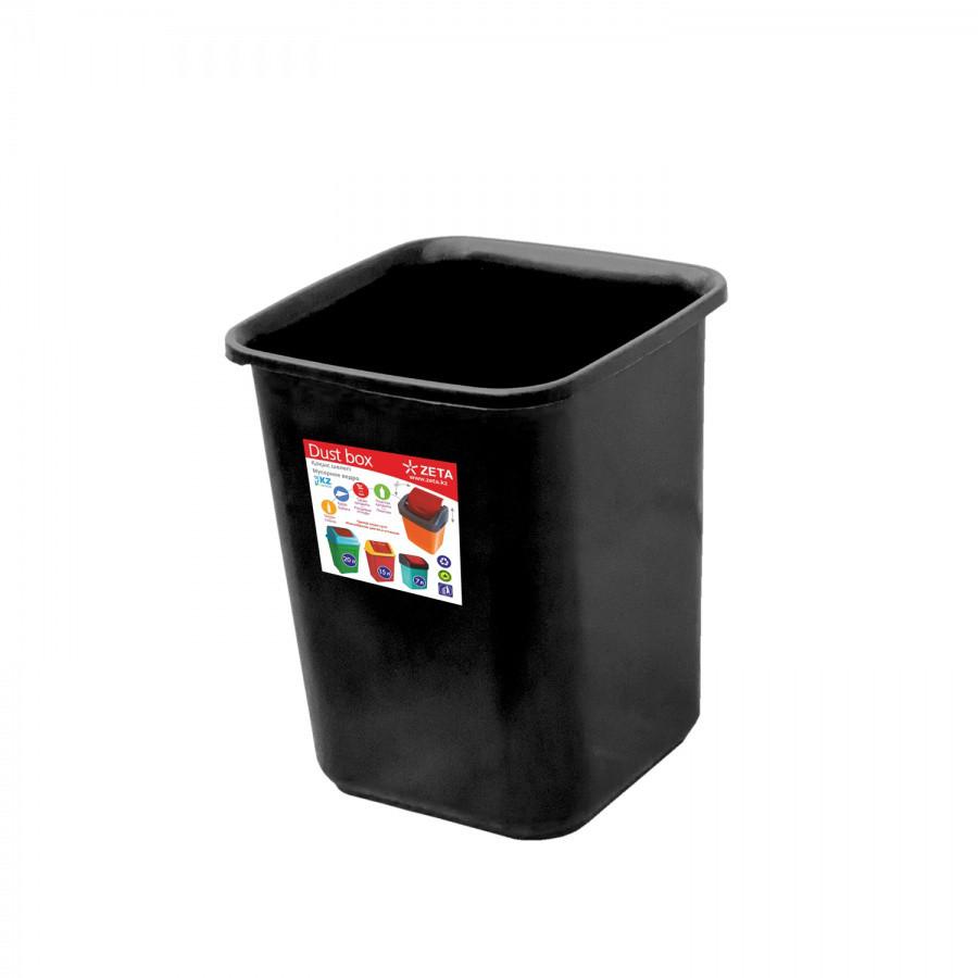 Ведро для мусора, чёрное (7 л.) из пластика