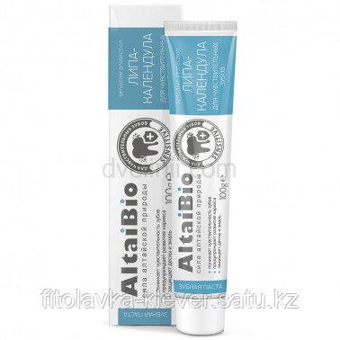 """AltaiBio зубная паста для чувствительных зубов """"Липа-календула"""""""