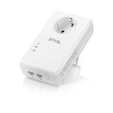 Zyxel PLA5456 Комплект Powerline адаптеров со встроенной розеткой, AV2000 (до 1800Мбит/с), 2xLAN GE