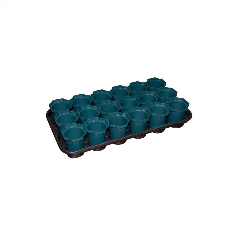 Комплект для рассады 18 стаканов из пластика, Зета,  ZETA,