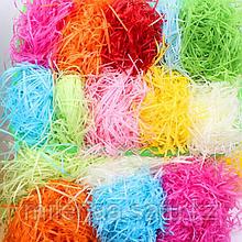 Бумажная разноцветная стружка, Наполнитель декоративный.