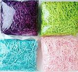 Бумажная разноцветная стружка, Наполнитель декоративный., фото 4