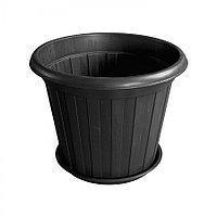 Горшок-кадка чёрная d375 из пластика, Зета,  ZETA,