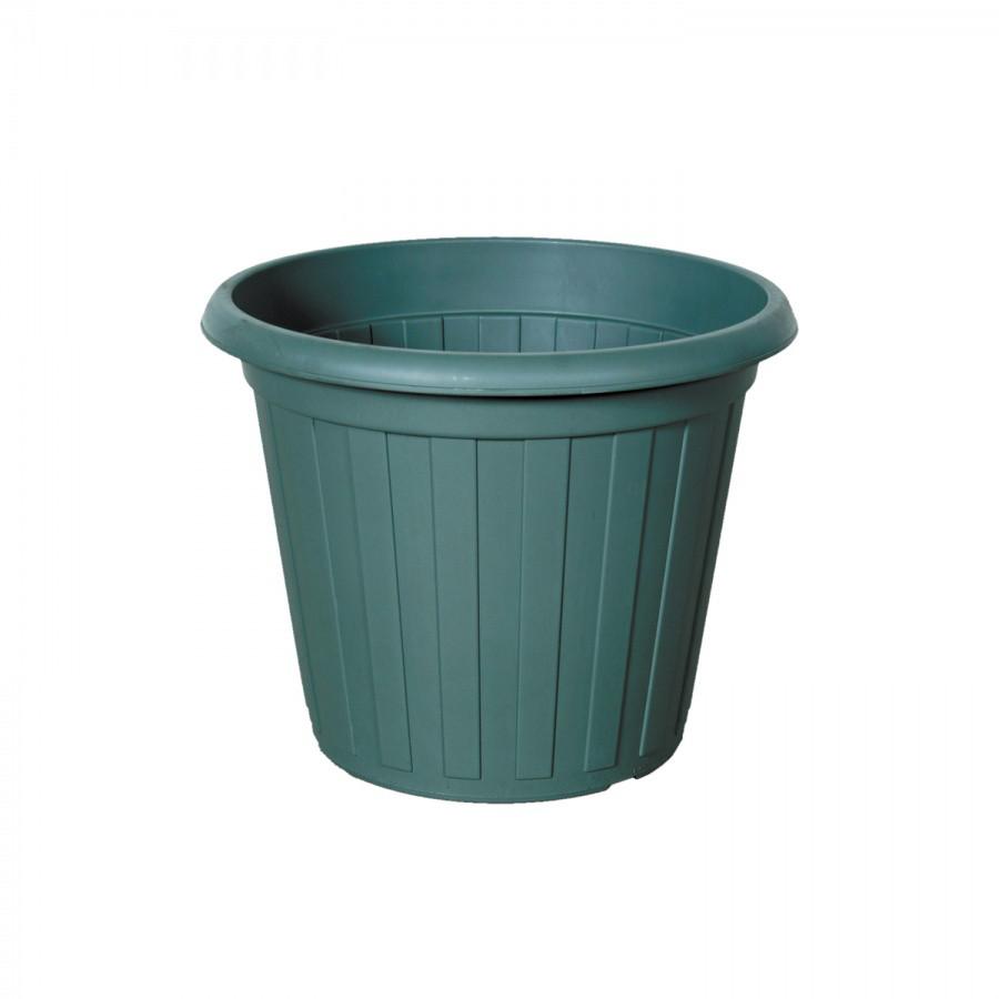 Горшок-кадка для цветов, цветная (d310) из пластика