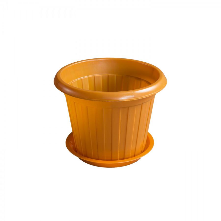 Горшок для цветов d245 из пластика, Зета,  ZETA,