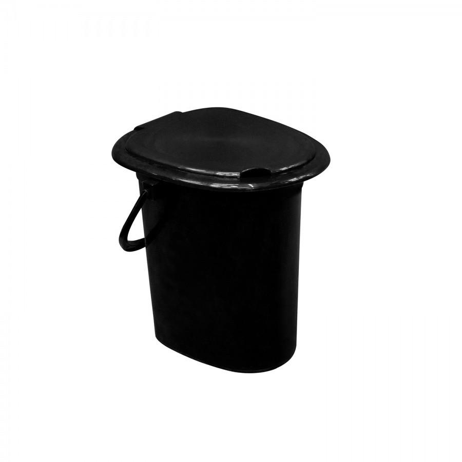 Ведро-туалет с крышкой из пластика, Зета,  ZETA,