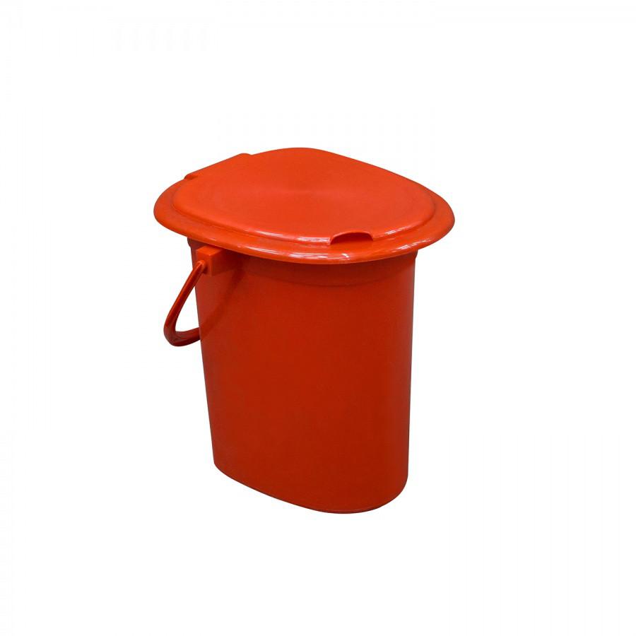 Ведро-туалет с крышкой из пластика