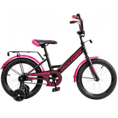 """Детский велосипед Tech Team 137 - 16"""" Чёрный"""