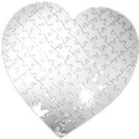 Пазлы картон сердце/детск. 100*100*1мм (23 элементов)
