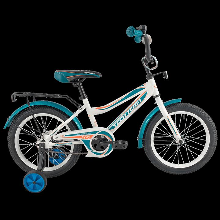 """Детский велосипед Tech Team 136 - 12"""" Зелёный"""