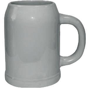 Кружка пивная керамическая (светло-серая) 0,3L