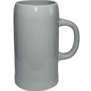 Кружка пивная керамическая (светло-серая) 1L