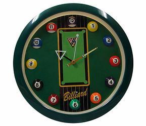 Часы настенные «11 шаров» D29 см (зеленые)