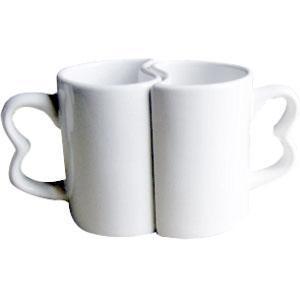 Кружка керамическая белая (Инь-Янь) 11oz.
