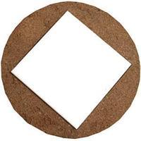 Подвеска - подставка из пробкового дерева (+ керам.плитка 10,8*10,8см)