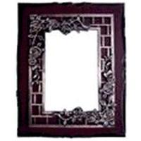 """Рамка 3-ка 20*25см (дерев.рамка фигурная+ металл + декор.элемент """"Розы"""")"""