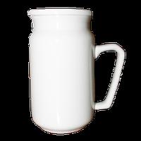 Кружка фарфоровая с крышкой 10 oz