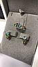 Серьги и кольцо с топазом и хризолитом, фото 2