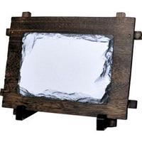 """Фотокамень """"Прямоугольник"""" деревянная рамка 12х17 см."""