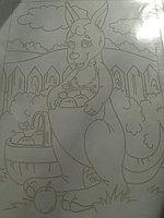 Трафарет для рисования песком, Кенгуру