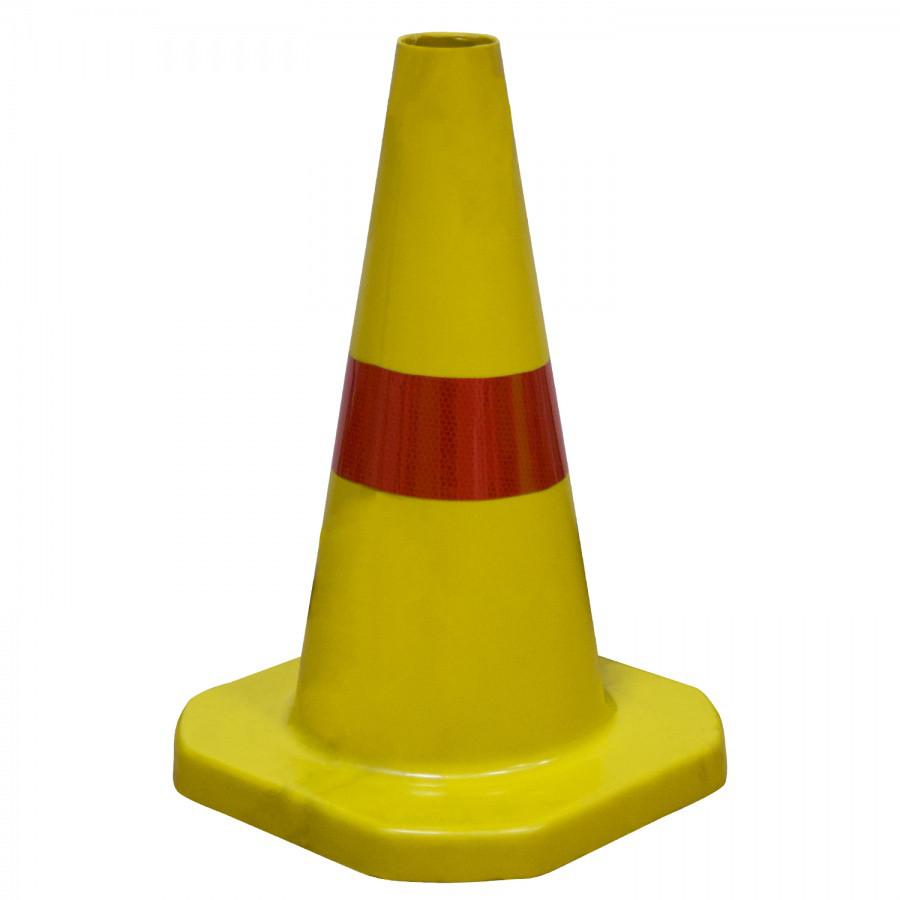 Конус дорожный (цветной) из пластика