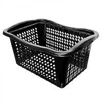 Корзина для белья (чёрная) из пластика