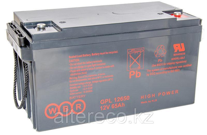 Аккумулятор WBR GPL 12650 (12В, 65Ач)