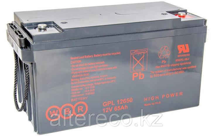 Аккумулятор WBR GPL 12650 (12В, 65Ач), фото 2
