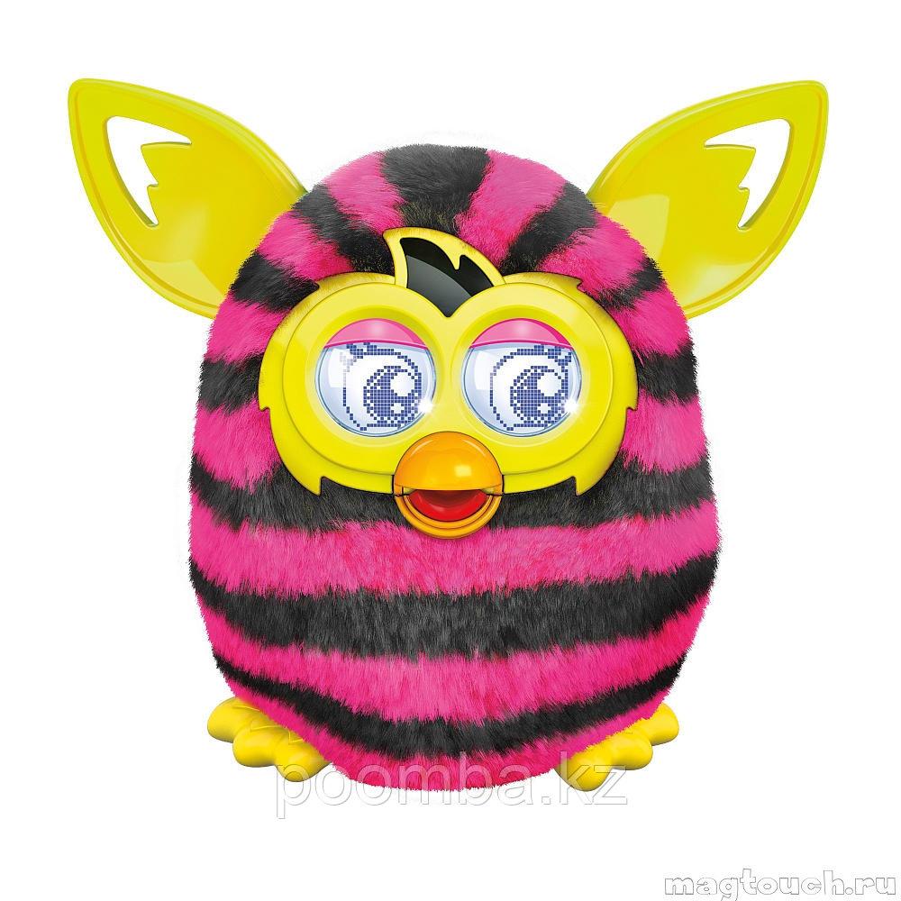 Furby Boom - Ферби Бум Straight Stripes с прямыми полосками - говорит по русски, интерактивная игрушка Hasbro