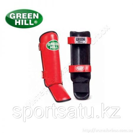 Щитки на ноги для кикбоксинга GREEN HILL