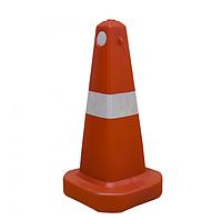 Конус дорожный со светоотражающей лентой  70 см, фото 1