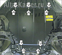 Защита картера Ford Focus III 2011-2014