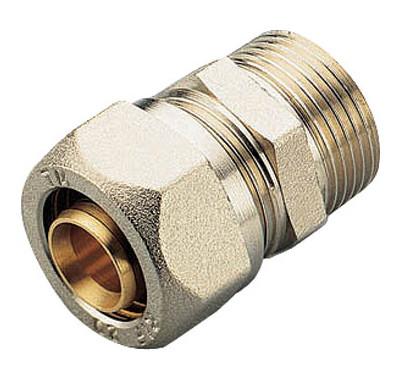 Муфты переходные с внешней резьбой для металлопластиковых труб