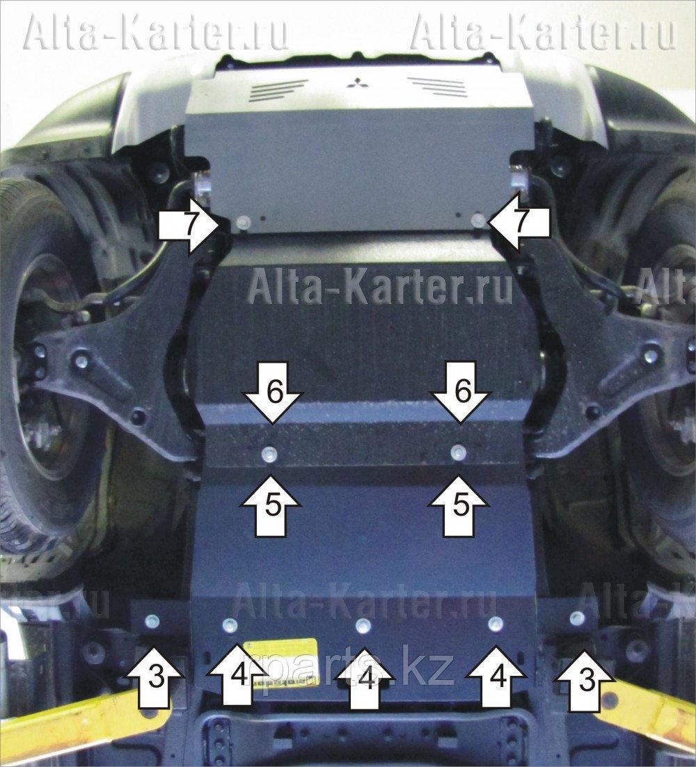 Защита картера, Mitsubishi Pajero Sport II 2012-2014