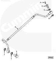 Трубка подачи топлива от ТНВД к фильтру Cummins L 4933293