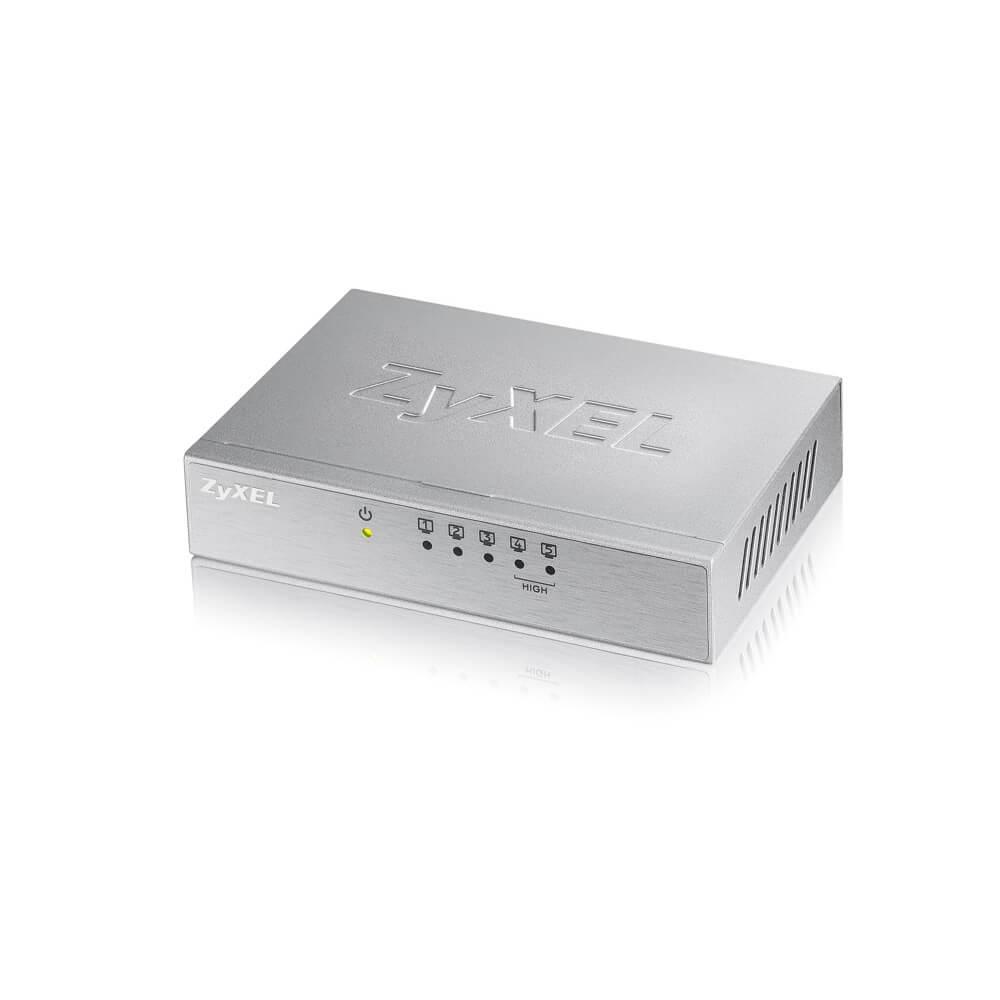Zyxel ES-105A v3 Коммутатор 5 портов 100 Мбит/с, настольный, металлический корпус