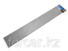 Облицовка радиатора (сетка декоративная) алюминий, 120 х 20 см, черная, ячейки 15мм х 4,5мм