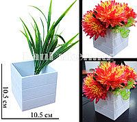 Декоративная ваза для цветов в стиле лофт белая